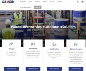 Spoločnosť Q8Oils má nový web