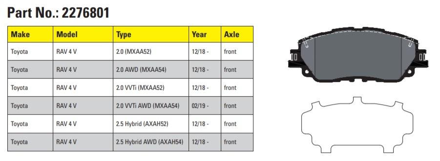 Brzdové destičky Textar pro vůz Toyota RAV 4