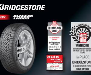 Pneumatika Bridgestone Blizzak LM005 dosáhla vynikajících výsledků v testech německých časopisů