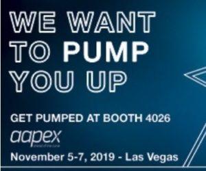 Dayco zve na svůj stánek na veletrhu AAPEX 2019