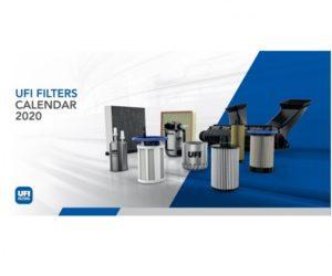 Kalendář firmy UFI Filters pro rok 2020