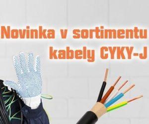 Novinka v sortimentu Elán: kabely CYKY-J