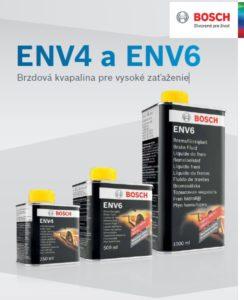 Brzdové kapaliny Bosch ENV4 a ENV6 novinka v Inter Cars