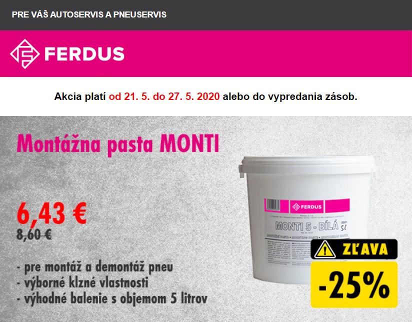 FERDUS: Akčné ceny na montážne pasty