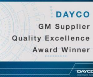 """Dayco získalo ocenění """"Supplier quality excellence award"""" od General Motors"""