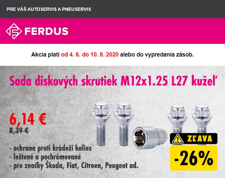 FERDUS: Akcie na bezpečnostné diskové matice a skrutky