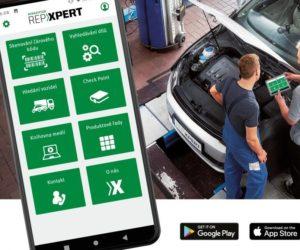 Mobilní aplikace Schaeffler REPXPERT pro snadné vyhledávání