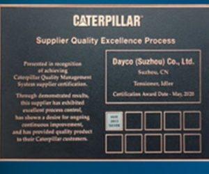 Dayco získalo ocenění kvality od společnosti Caterpillar