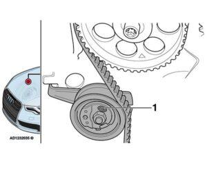 Audi A3: pískavý zvuk z motorového prostoru při volnoběhu