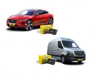 Brzdové destičky Textar jsou nyní dostupné pro vozy Jaguar I-Pace a Mercedes-Benz Sprinter