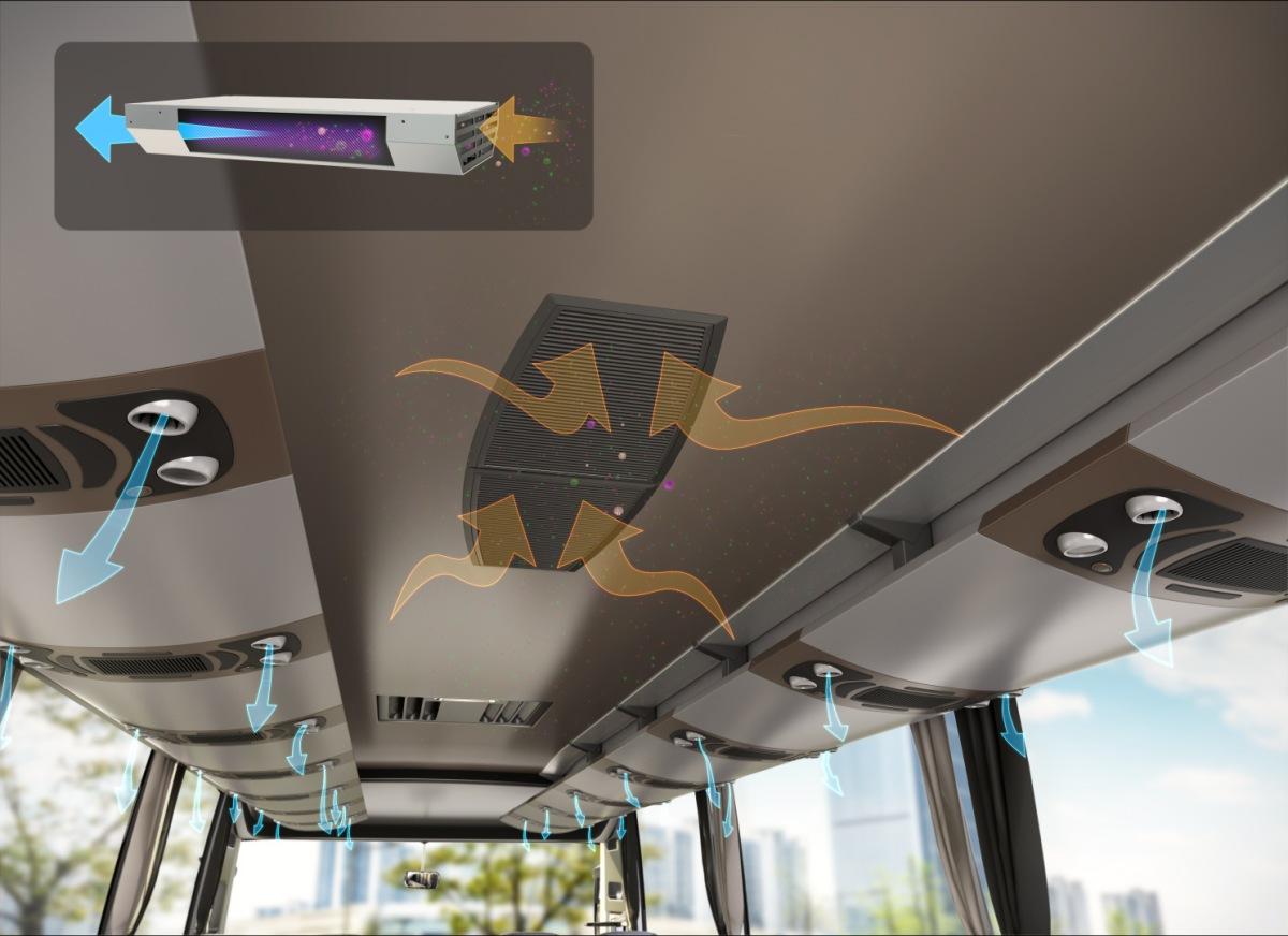 Zdravotní štít Valeo pro autobusy