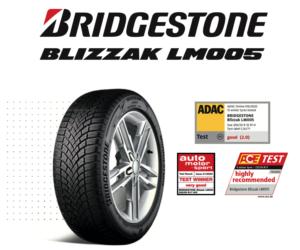 Bridgestone Blizzak LM005 získává další nejvyšší ocenění v celé Evropě