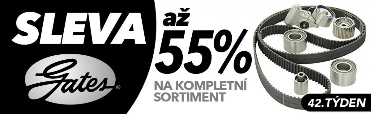 J+M autodíly: Až 55% slevy na sortiment Gates