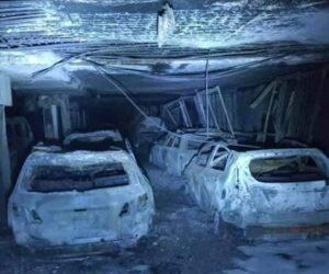 Výbuch elektrického auta – v podzemní garáži shořelo téměř 50 aut