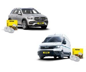 Nové brzdové kotouče Textar pro vozy Mercedes-Benz a MAN TGE