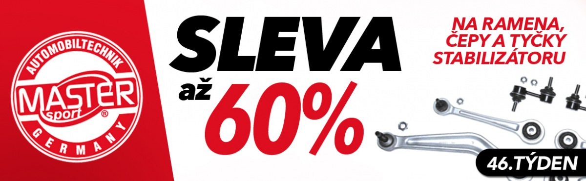J+M autodíly: Až 60% slevy na produkty Master Sport