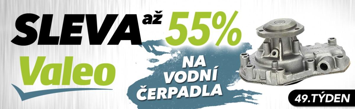 J+M autodíly: Až 55% slevy na vodní čerpadla Valeo