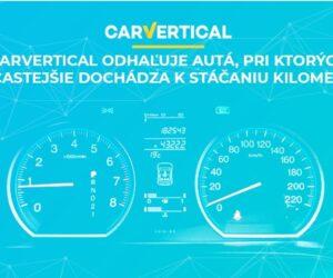 carVertical odhaľuje autá, pri ktorých najčastejšie dochádza k stáčaniu kilometrov