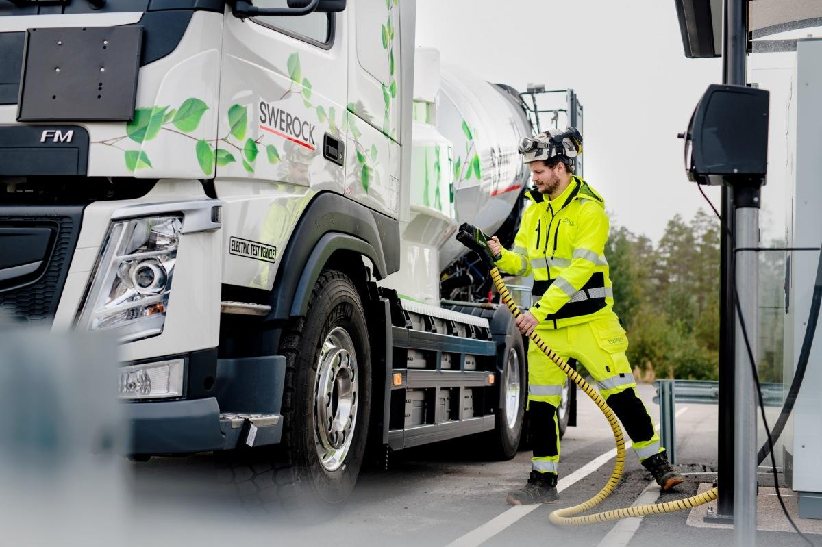 Elektrická nákladní vozidla Volvo Trucks - nabíjení