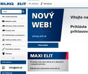 Společnost ELIT představuje nový web