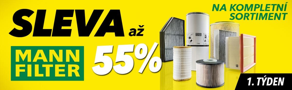 J+M autodíly: Až 55% slevy na kompletní sortiment Mann Filter