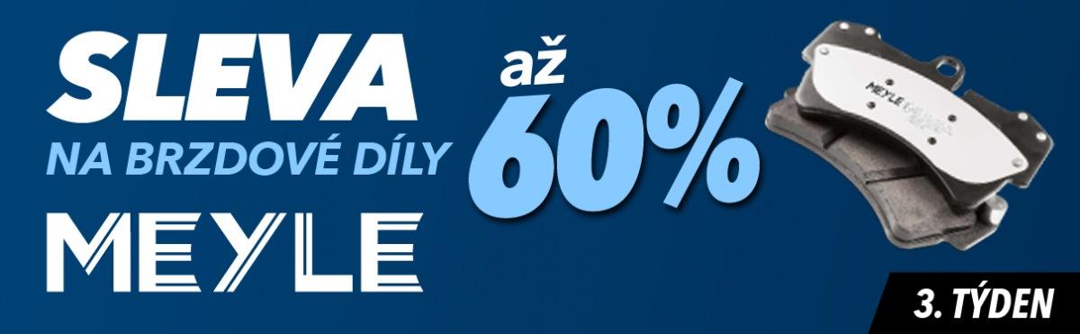 J+M autodíly: Až 60% slevy na brzdové díly Meyle