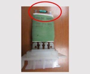 Nesprávná funkce rezistoru regulace ventilátoru
