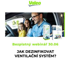Nový webinář Valeo: Dezinfekce klimatizačního systému již 30. 6.