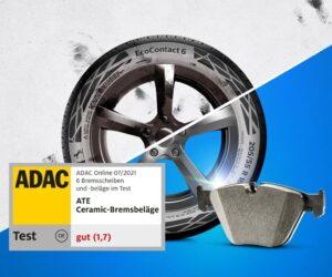 ADAC test brzd: ATE Ceramic jsou vítězem testu