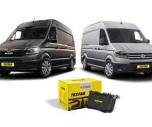 Brzdové destičky Textar pro vozy VW Crafter a MAN TGE