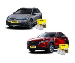 Nové brzdové kotouče Textar pro vozy Mazda CX 30 a VW Golf