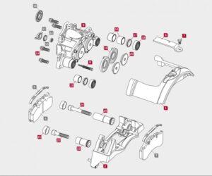 Nové opravné sady třmenů Meritor v aplikacích Scania